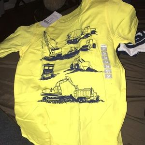Construction trucks kids T-shirt